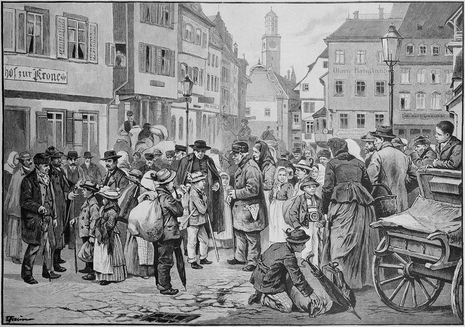 schwabenkinder, ravensburg, gartenlaube