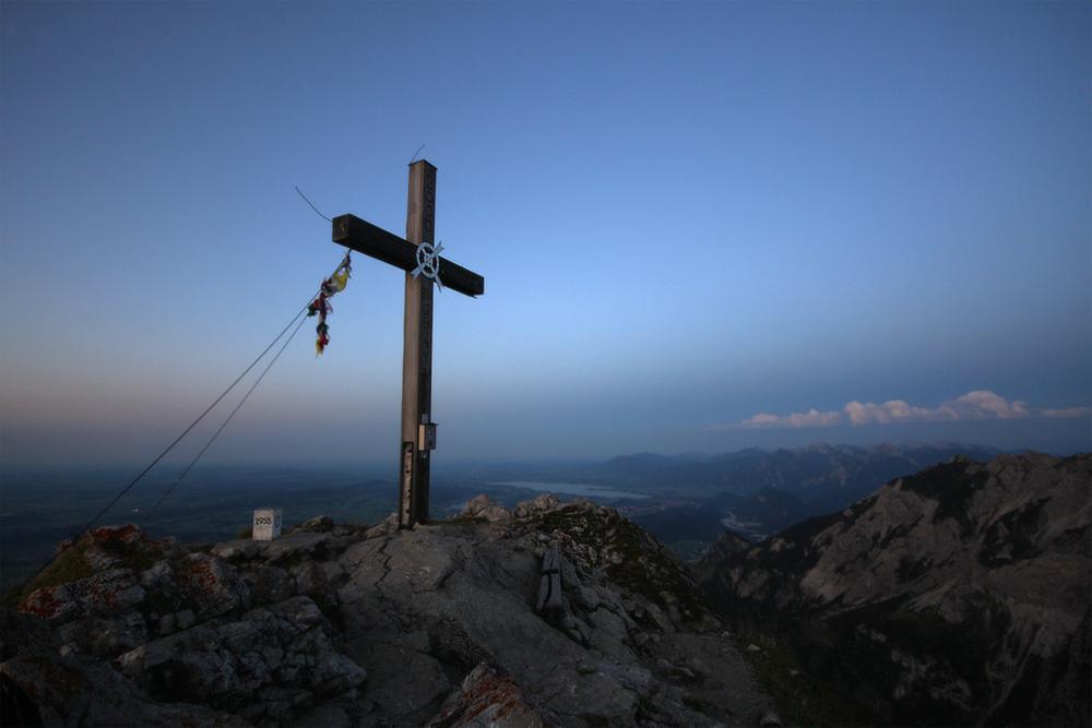 Nur selten hat man den Gipfel des Aggensteins für sich allein