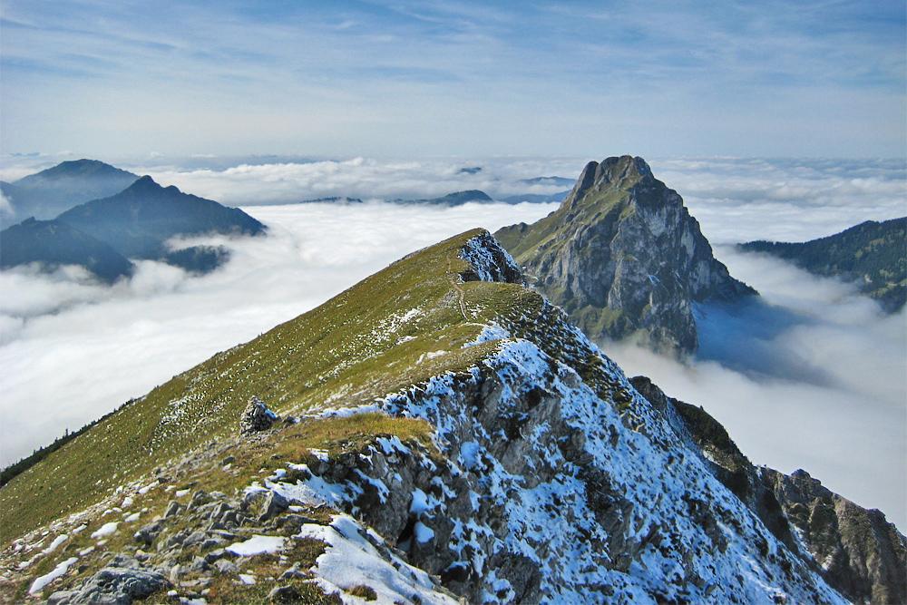 der Gipfel des Aggenstein vom Brentenjoch aus gesehen