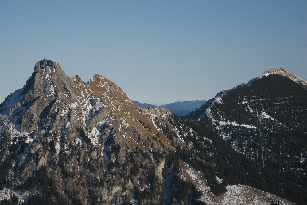 Blick von Westen auf den Aggenstein