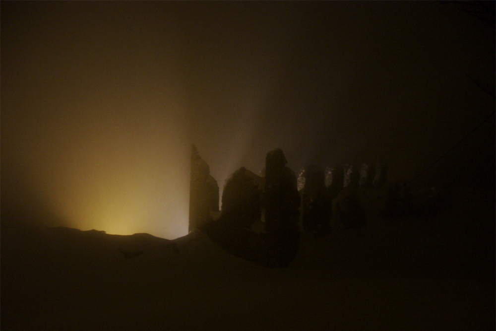 nachts im Winter auf dem Schlosskopf