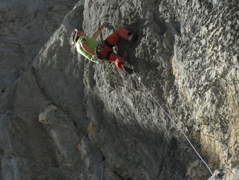 Felsstrukturen  phantatstische Felsstruktur in der Route