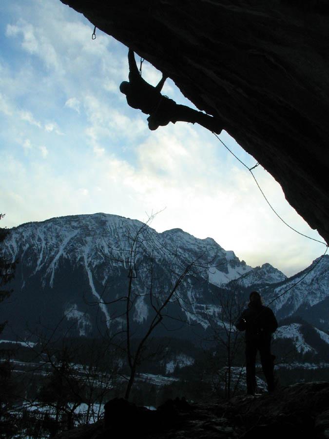 verkehrte Welt Klettern im Spätherbst