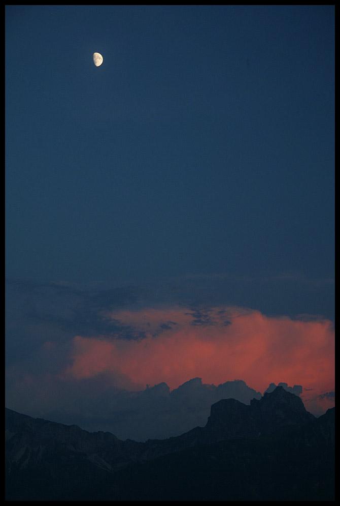 Gewitterwolken über dem Aggenstein