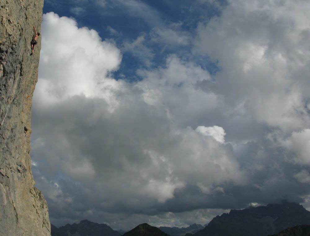 Klettern vorm Widderstein