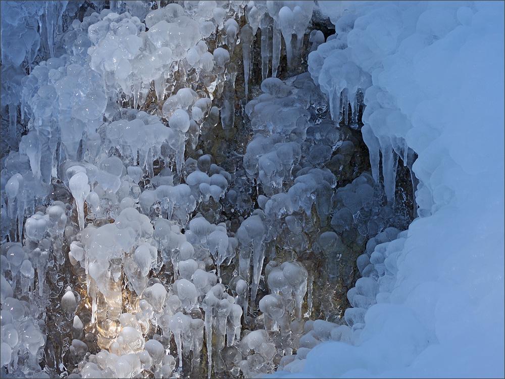 Eisskulpturen auf dem Weg zur Bernhardseckhütte