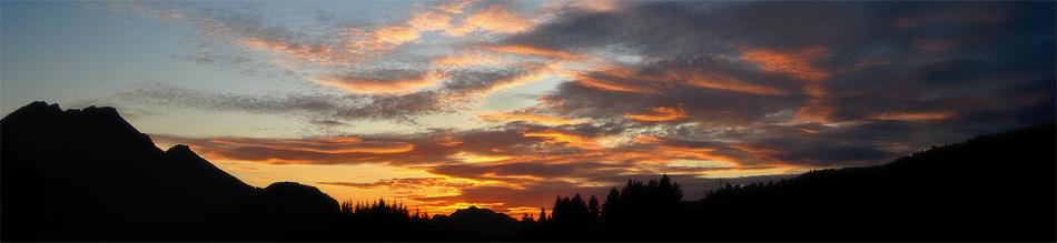 Sunset ueber Pflach