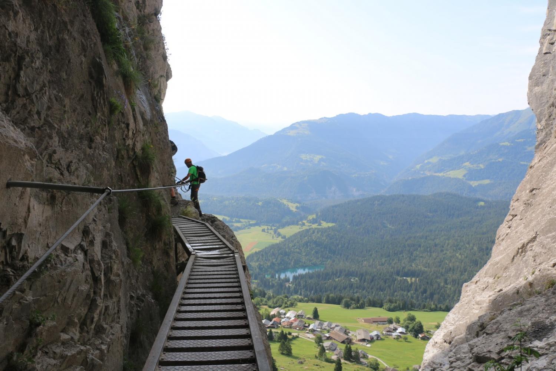 Klettersteig Pinut : Historischer klettersteig pinut in flims graubünden alpic