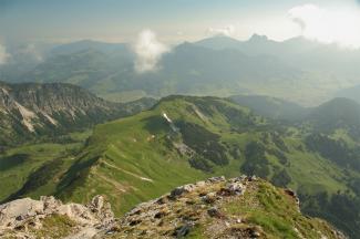 Blick vom Geißhorn gegen Norden