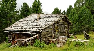 Hütte im Gadertal