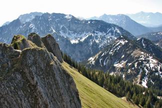 Ahornspitze, Niederstraußberg und Krähe