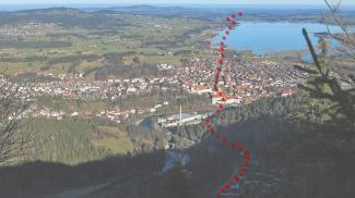 Route der Via Claudia bei Füssen