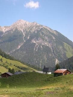 Fallerschein mit Blick Richtung Knittelkarspitze
