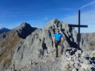 Fiechterspitze 2298m, Mittagspitze 2333m und Schneekopf 2313m