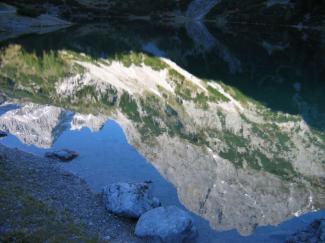 Spiegelungen am Seebensee