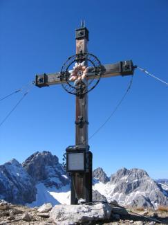 Gipfelkreuz Hinterer Tajakopf