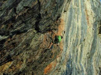 Farbenprächtiger Fels