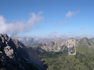 Leilachspitze mit Blick Richtung Norden