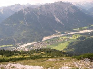 Gaichtspitze mit Blick Richtung Weissenbach
