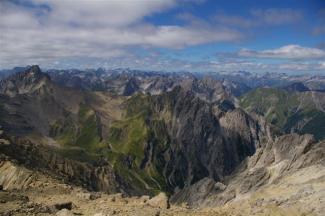 Gipfelblick vom Muttekopf