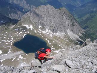 Kletterei an der Bockkarspitze (2602 m)