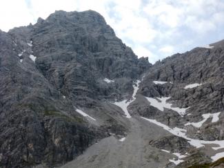 Blick zur Urbeleskarspitze nähe Kaufbeurerhaus