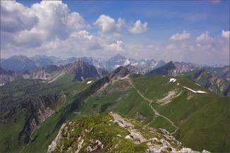 Ausblick über die Allgäuer Alpen