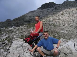 Am Süd-Ostrücken der Wasserfallkarspitze