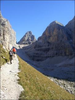 Aufstieg Richtung Bocca del Brenta