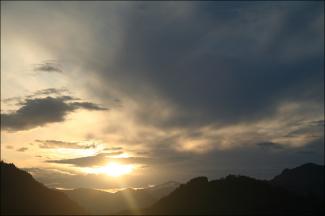 Abend über dem Edelsberg