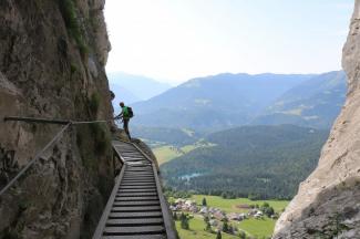 Historischer Klettersteig Pinut in Flims (Graubünden)