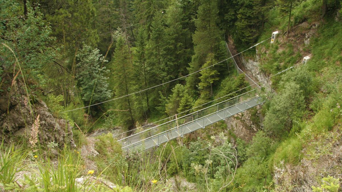 Hängebrücke am Ministersteig