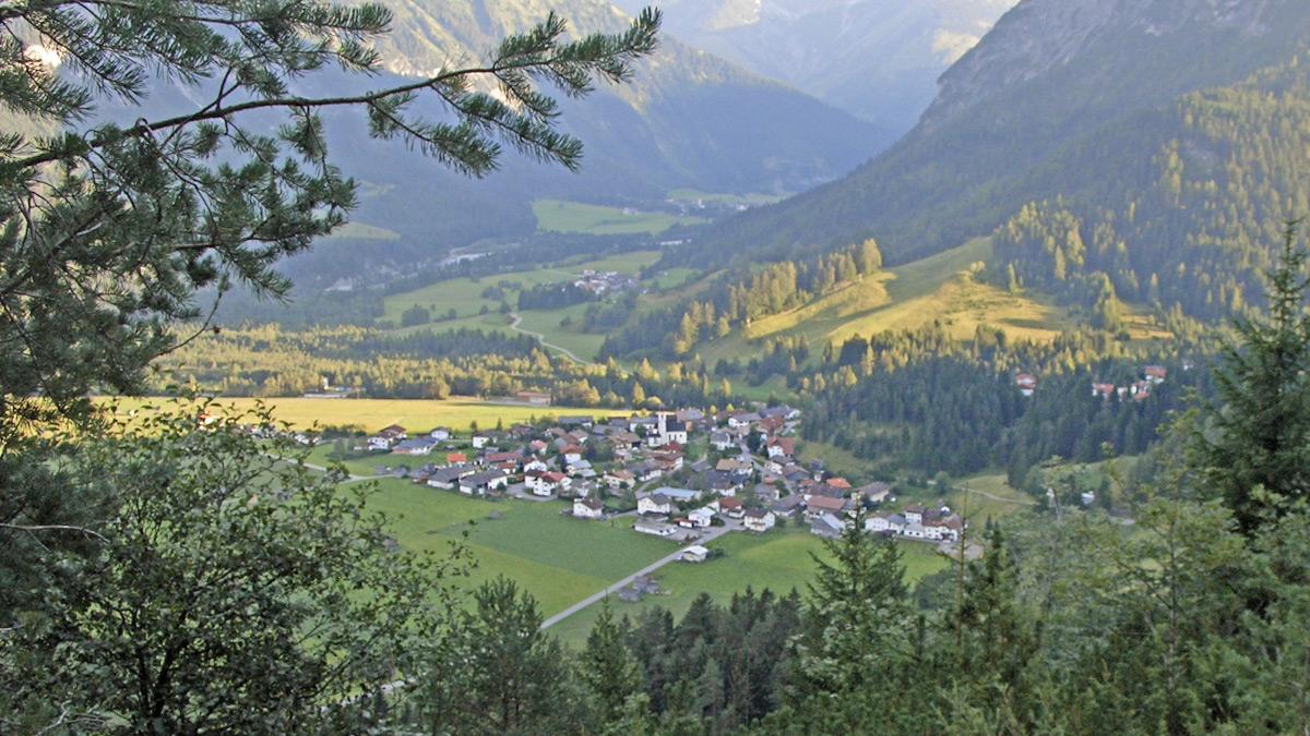 die Gemeinde Vorderhornbach am Eingang des Hornbachtales
