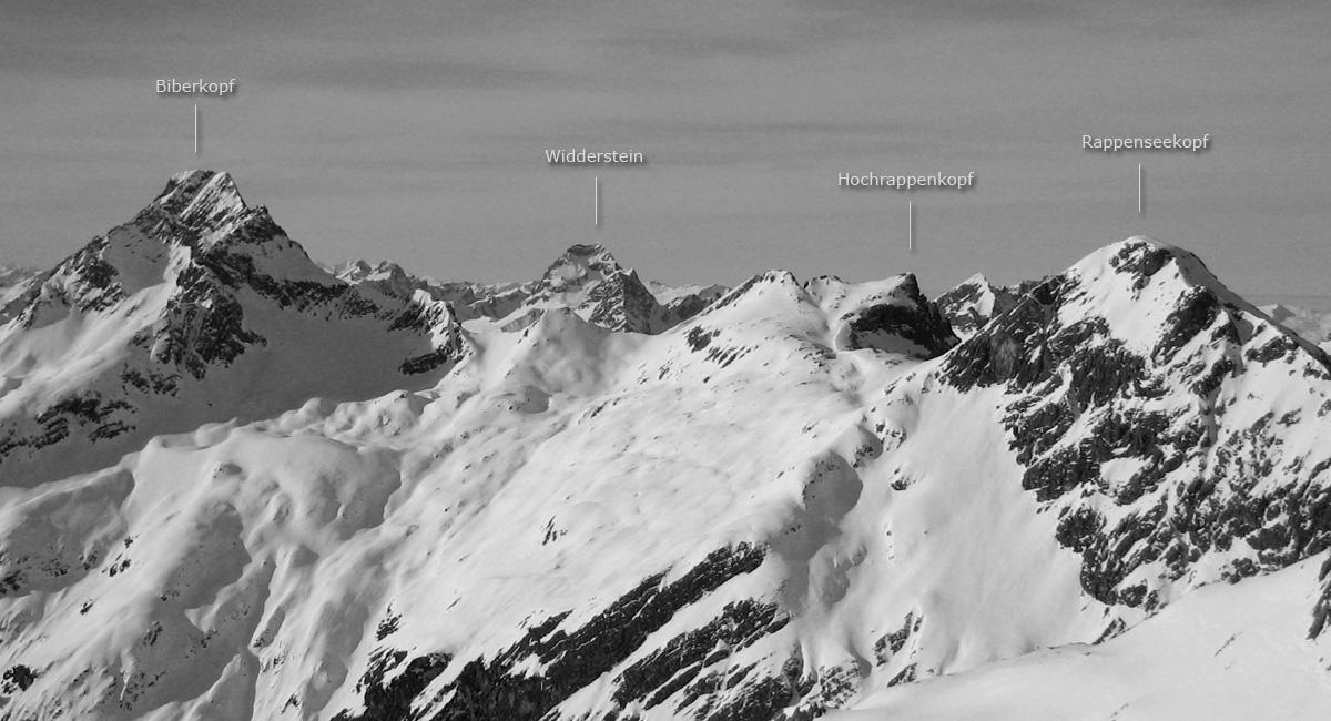 panorama hochalpgrat biberkopf widderstein hochrappenkopf rappenseekopf