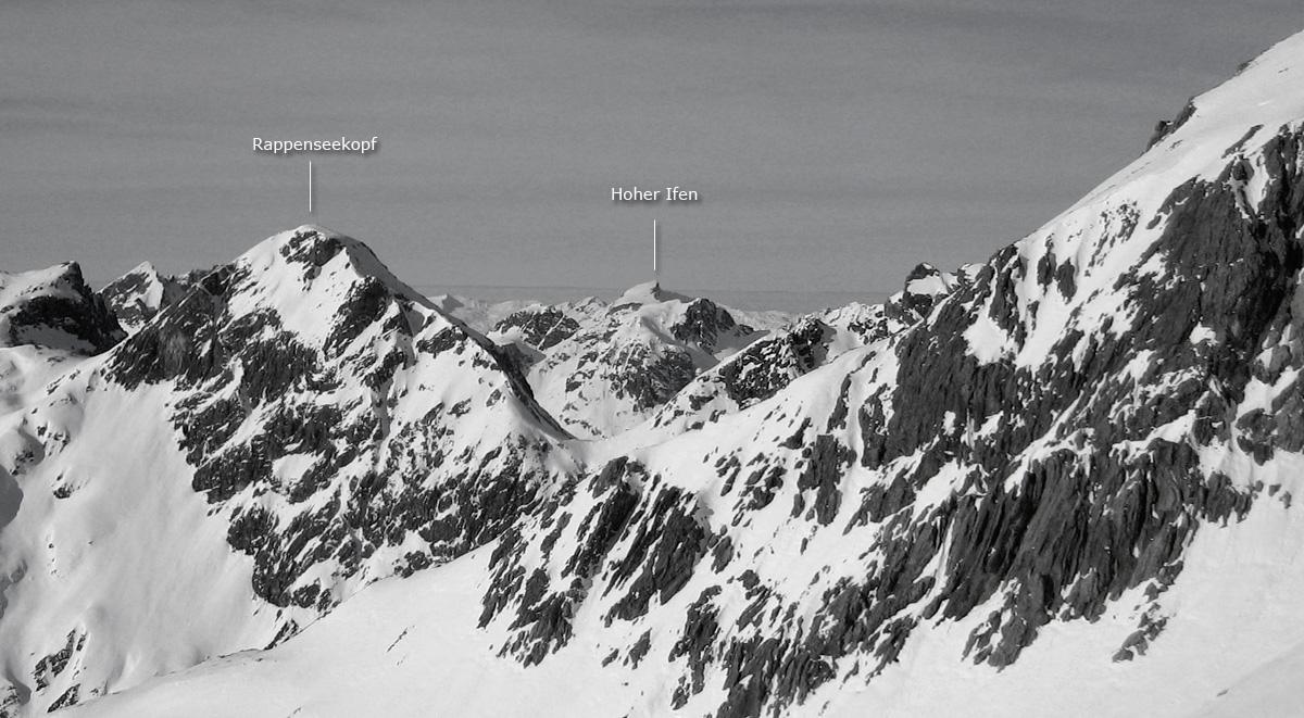 panorama hochalpgrat rappenseekopf hoher ifen