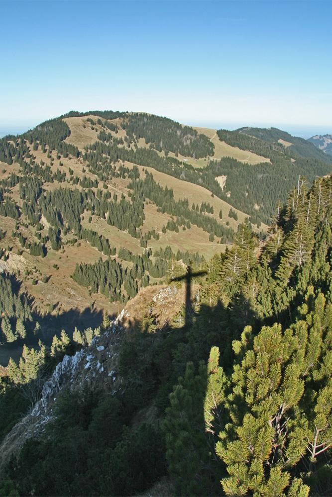 Gipfelblick vom Spieser gegen Norden zum Wertacher Hörnle