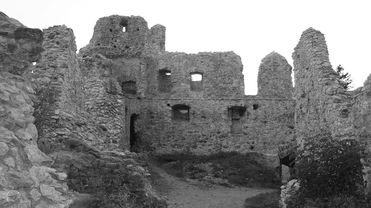 eine Innenansicht der Burgruine Hohenfreyberg