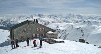 Keschhütte und Berninagruppe
