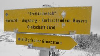Tafel am Dreiländereck