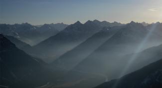 spätherbstlicher Gipfelblick von der Gaichtspitze