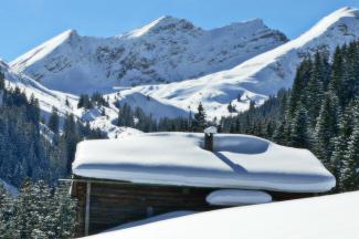 Rotbachhütten und Knittelkarkopf