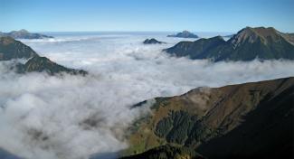 Wolkenmeer über dem Reuttener Becken