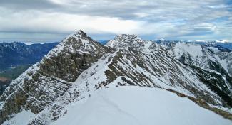 der mittlere Geierkopf und die Kreuzspitze