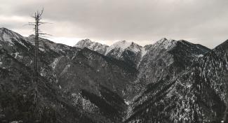 Kreuzspitze und Schellschlicht über dem Schellental