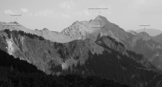 Klammspitz-Gruppe Panorama