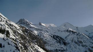Ramstallspitze, Strahlkopf und Rothornspitze