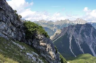 Gipfelblick von der Grubachspitze gegen Norden