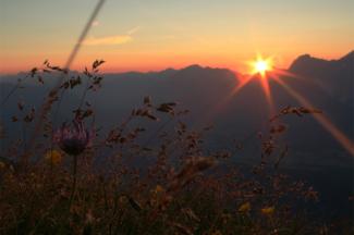 Sonnenuntergang in den Stubaier Alpen