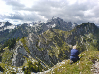 Hochplatte und Vorderscheinberg
