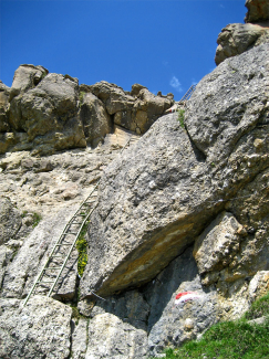 Eisenleitern am Hinteren Alpjoch
